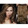 Clip in pás z pravých vlasů 43cm vlnitý – tmavý melír