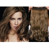 Clip in pás z pravých vlasů 63cm vlnitý – tmavý melír