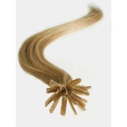 Vlasy evropského typu k prodlužování keratinem 60cm - světle hnědé