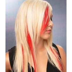 Clip in pramínek – REMY 100% lidské vlasy – červená