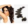 Vlnité vlasy evropského typu k prodlužování keratinem 60cm - přírodní černé