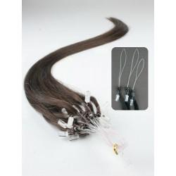 Vlasy pro metodu Micro Ring / Easy Loop / Easy Ring / Micro Loop 50cm – tmavě hnědé