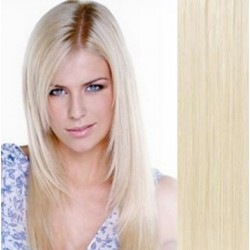 Vlasy pro metodu Pu Extension / TapeX / Tape Hair / Tape IN 50cm - platinová blond