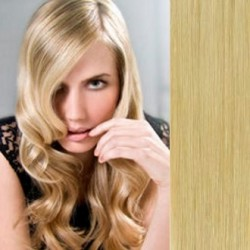 Clip in vlasy 63cm 100% lidské – REMY 120g – PŘÍRODNÍ BLOND