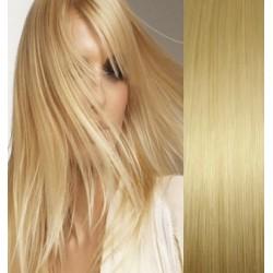 Clip in vlasy 63cm 100% lidské – REMY 120g – SVĚTLEJŠÍ BLOND
