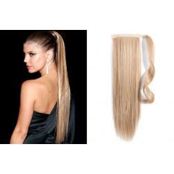 Clip in příčesek culík/cop 100% lidské vlasy 60cm - přírodní blond