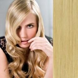 Clip in vlasy 53cm 100% lidské – REMY 100g – PŘÍRODNÍ BLOND