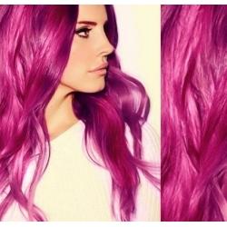 Vlasy pro metodu Pu Extension / TapeX / Tape Hair / Tape IN 60cm - růžová